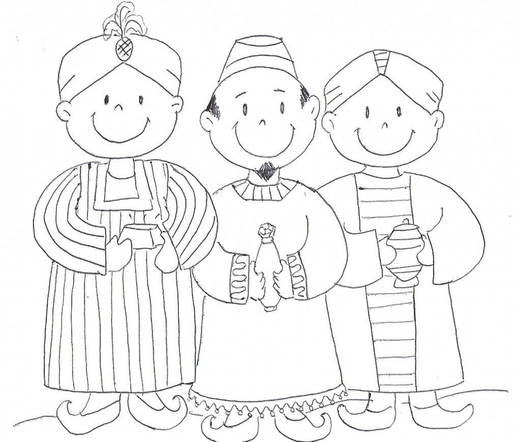 Os 3 reis magos para imprimir (10 desenhos)   reis   Pinterest ...