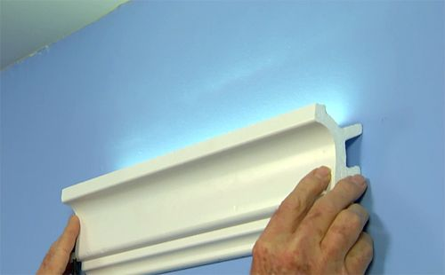 Led Tape Kitchen Shelf Decor Easy, Inexpensive Cove Lighting Uses Foam Crown Molding ...