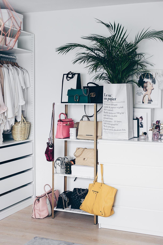 Diy Einrichtungsideen ikea hyllis hack meine diy taschen aufbewahrung im ankleideraum