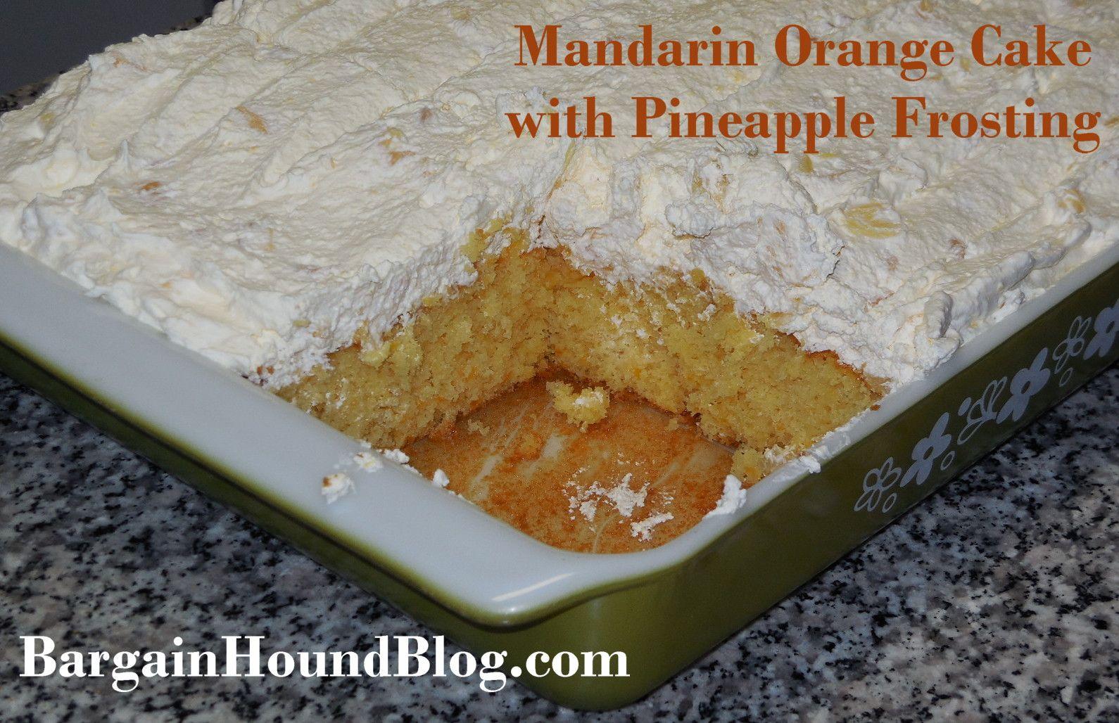 Orange Cake Icing Recipes: Recipe: Mandarin Orange Cake With Pineapple Frosting
