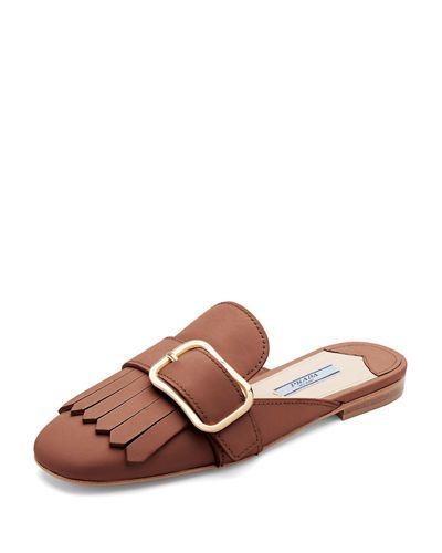 Sexy Sport Geniue Stockiste Prix Pas Cher Prada Buckled slippers 2018 Rabais qZZhjjouy