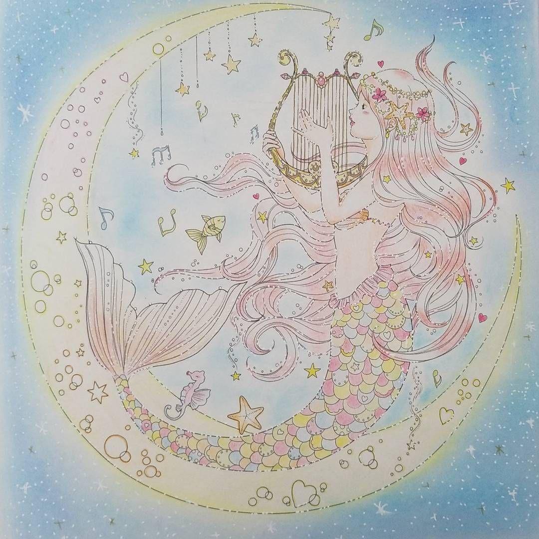 Gefallt 51 Mal 10 Kommentare Akemi 1215 Akmn N Auf Instagram 夢色プリンセス塗り絵 人魚姫 結構前に塗ったやつです 白ペン入手したんで書き加えました 背景は飽きてめっちゃ雑 ๑ W 塗り絵 イラスト かわいいイラスト