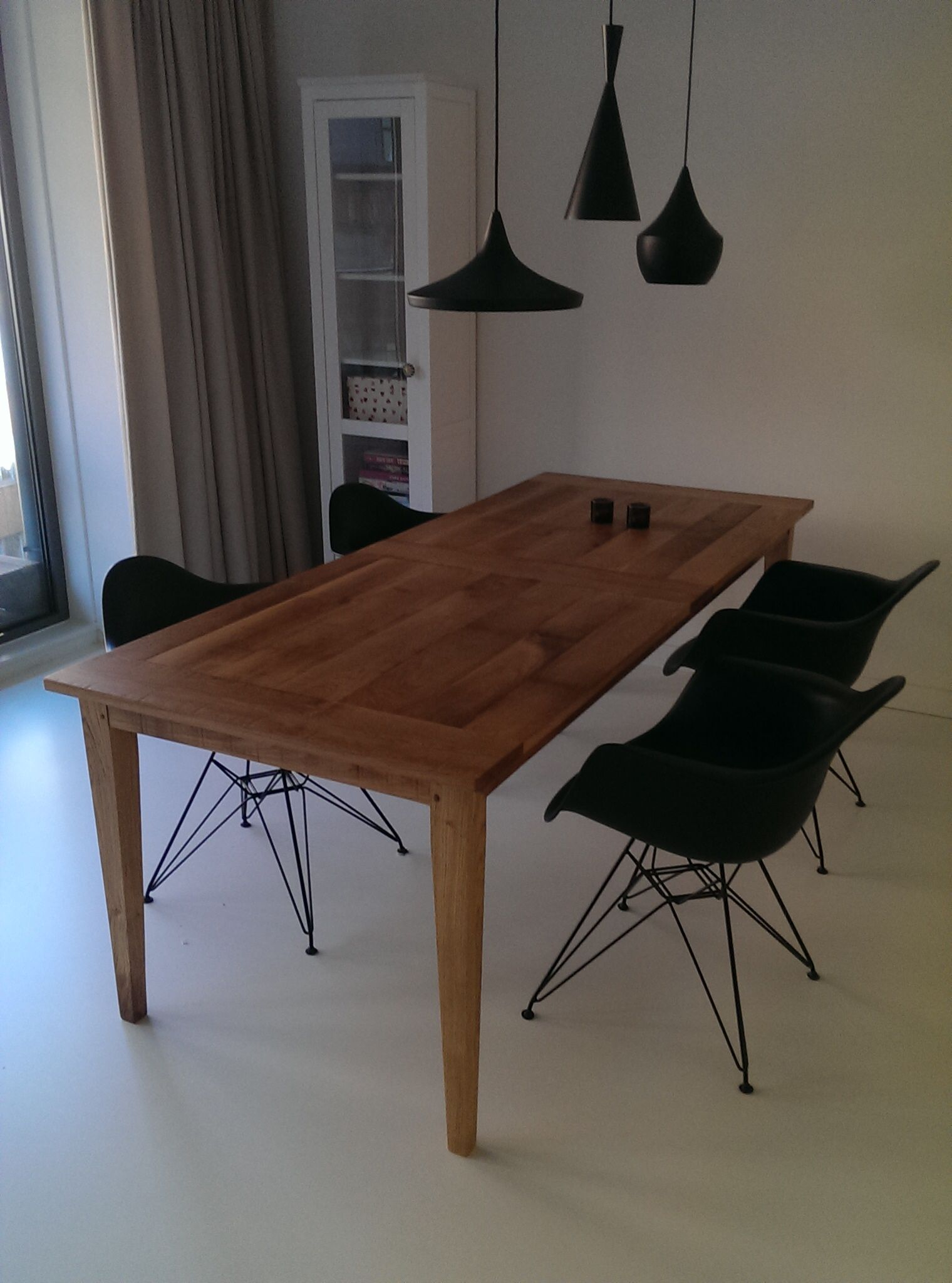 Franse eikenhouten tafel Deze keer afgewerkt in blanke olie