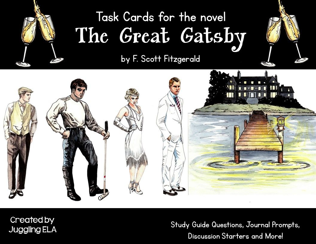 task cards for the novel the great gatsby by f scott fitzgerald 80 task cards and answers for the novel the great gatsby