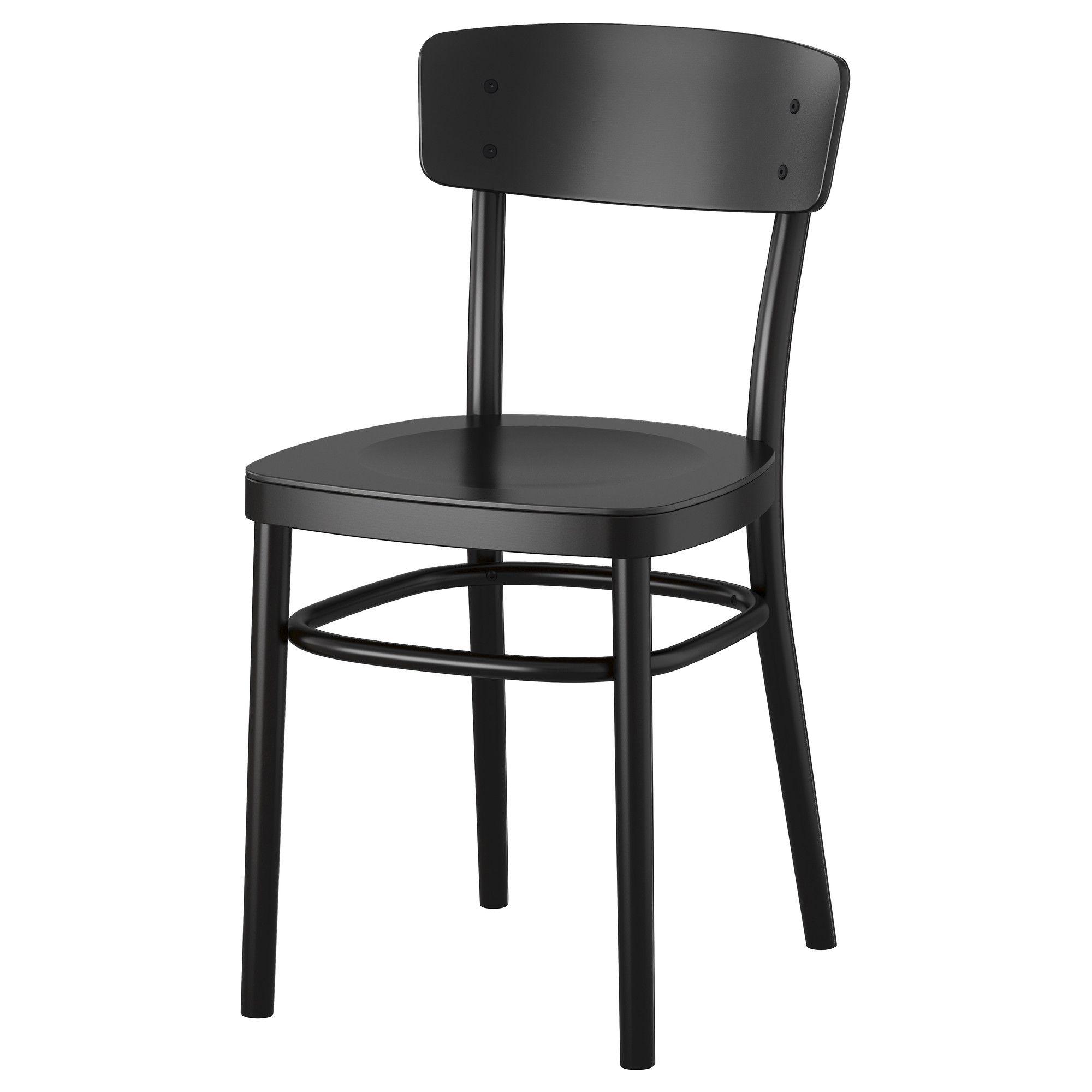 idolf chair black penthouse ikea stuhl. Black Bedroom Furniture Sets. Home Design Ideas