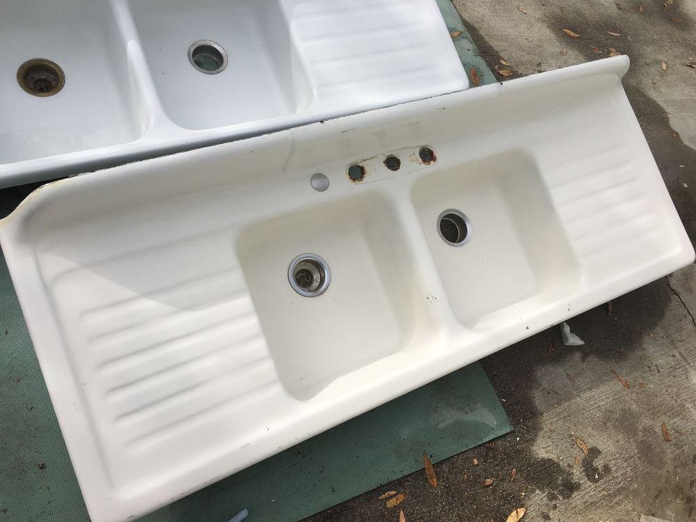 Vintage Drainboard Sink Kitchen