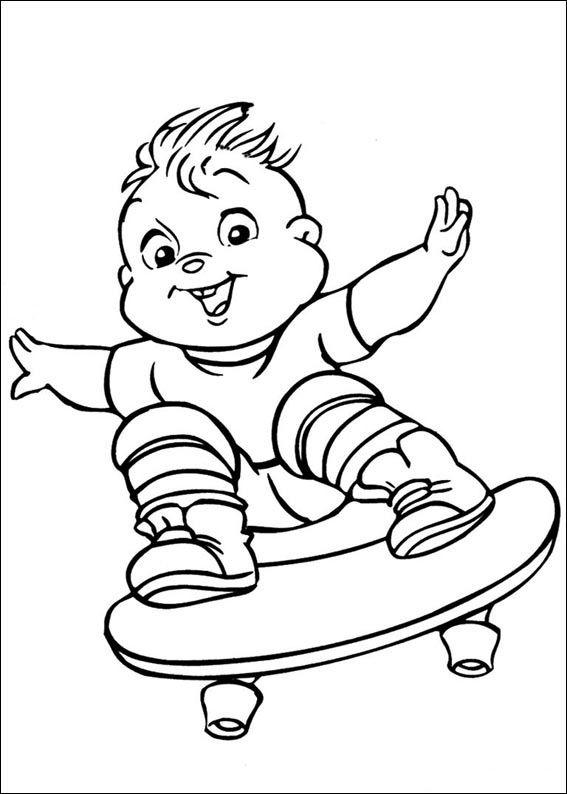 Dibujos para Colorear Alvin y las Ardillas 4 | Dibujos para colorear ...