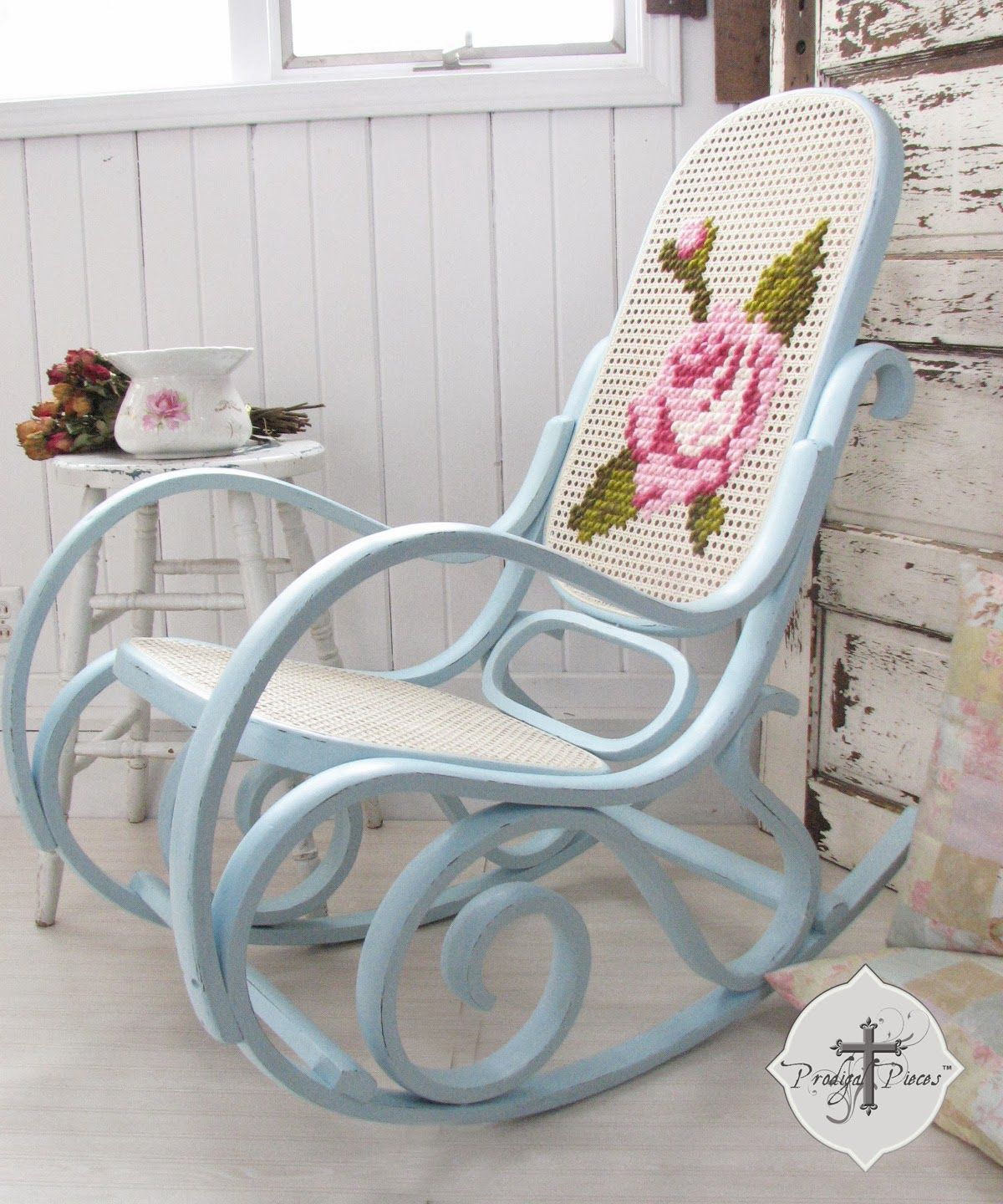 Bentwood rocking chair makeover - A Shabby Chic Rocker With A Twist