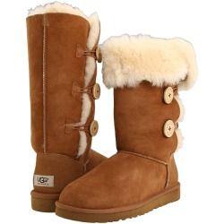 UGG Bailey Button Triplet Chestnut Sheepskin Womens Boots