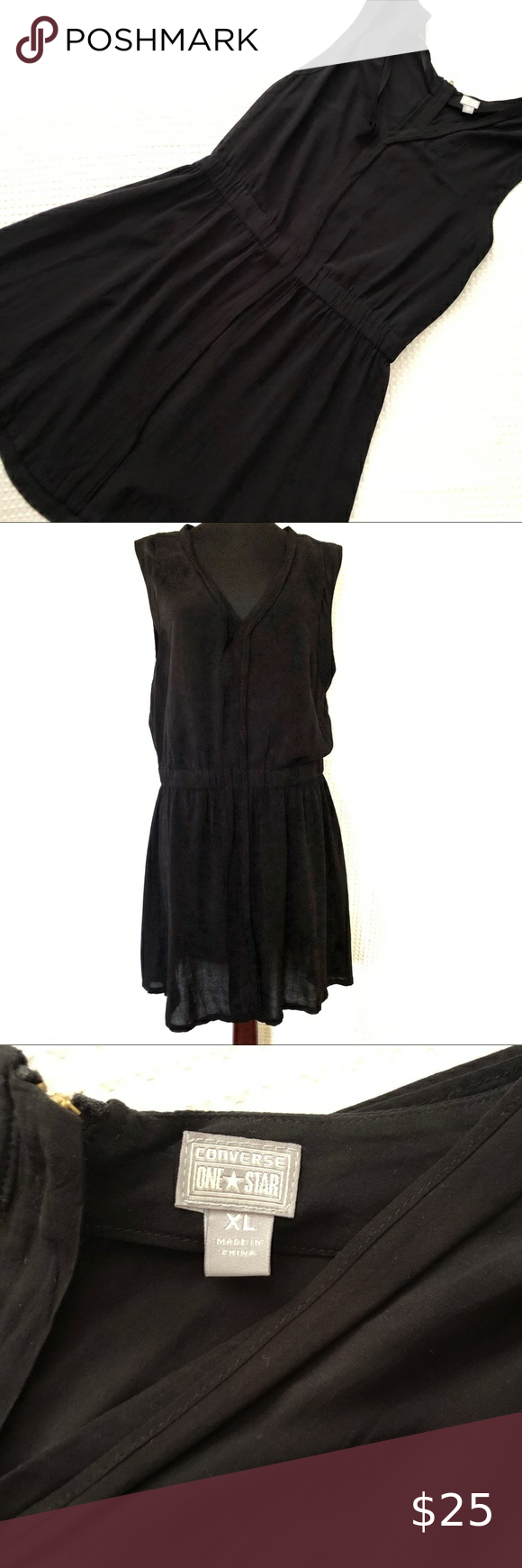 Converse Black Dress Xl Black Dress Xl Dress Clothes Design [ 1740 x 580 Pixel ]