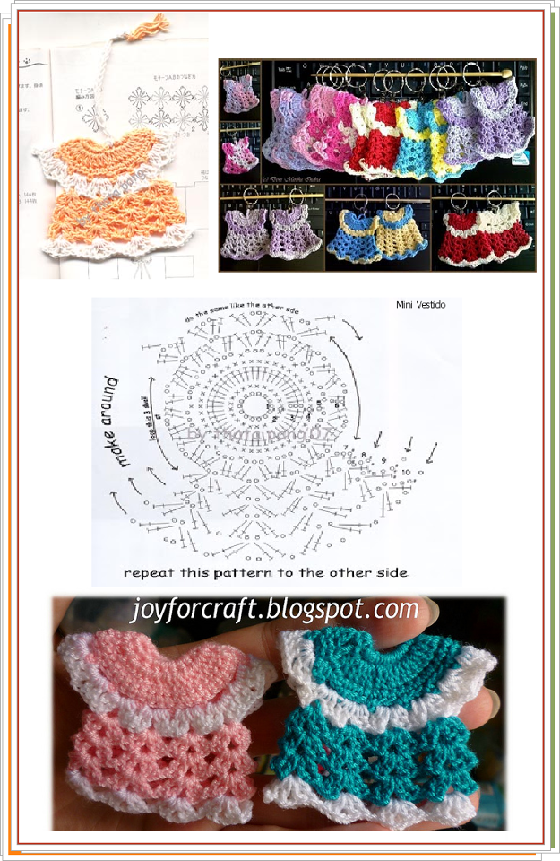 FREE DIAGRAM ~ Crochet Dress Ornament ~ | puntos crochet | Pinterest ...