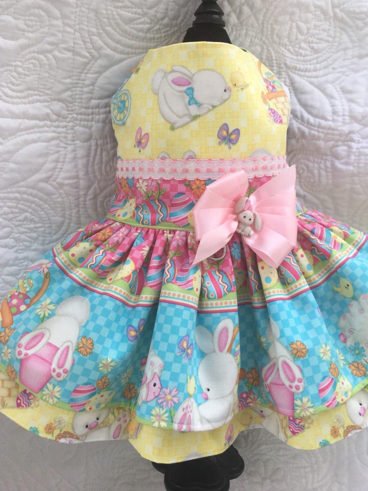 Easter dog dress harness for girl dog custom made in 2020