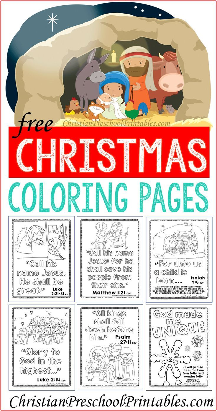 christmasbiblecoloring | Christmas Assorted Coloring Pages ...