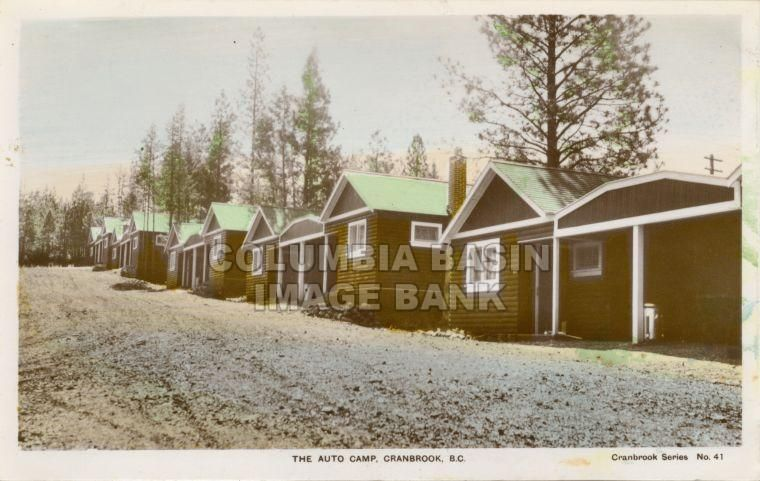 City Auto Camp, located in Baker Park; the two farthest buildings in this photo are still present today.