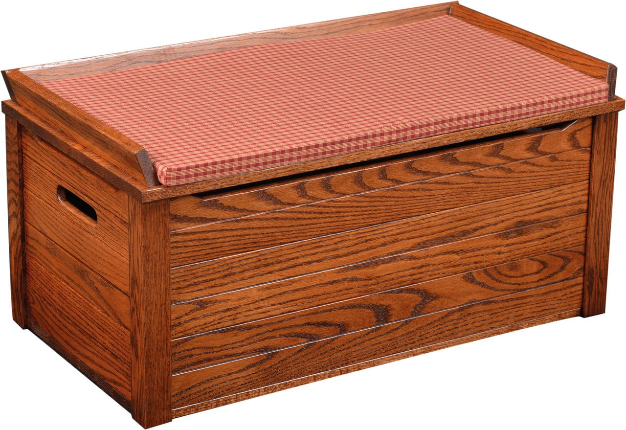 Amish made Wooden Toy Box in Solid Oak