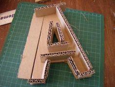 lettre en carton lettre en carton : tuto | Craft lettre en carton