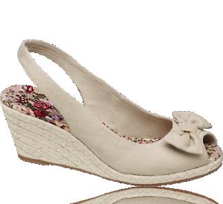 Keilsandalette mit Blumendruck - Sandaletten - Schuhe - Damen - Deichmann