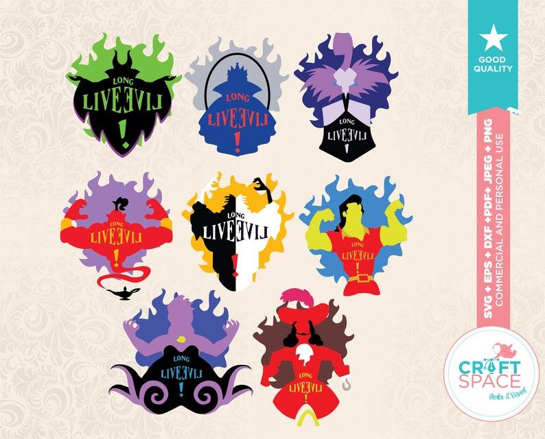Descendants Long Live Evil Maleficent Jafar Cruella Evil Etsy Disney Valentines Disney Descendants All Disney Princesses