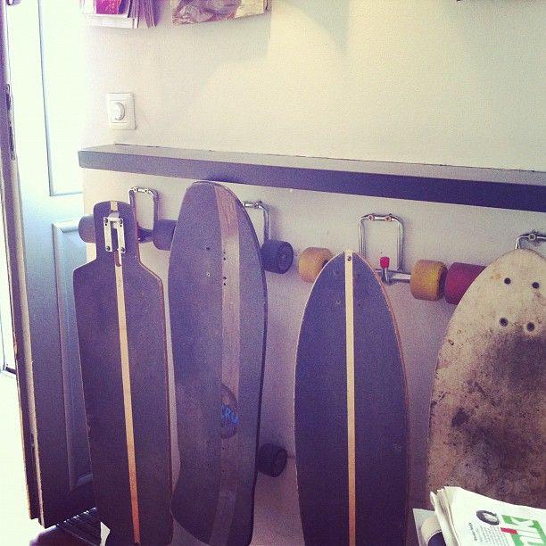 Skateboard Holder   Garage Idea
