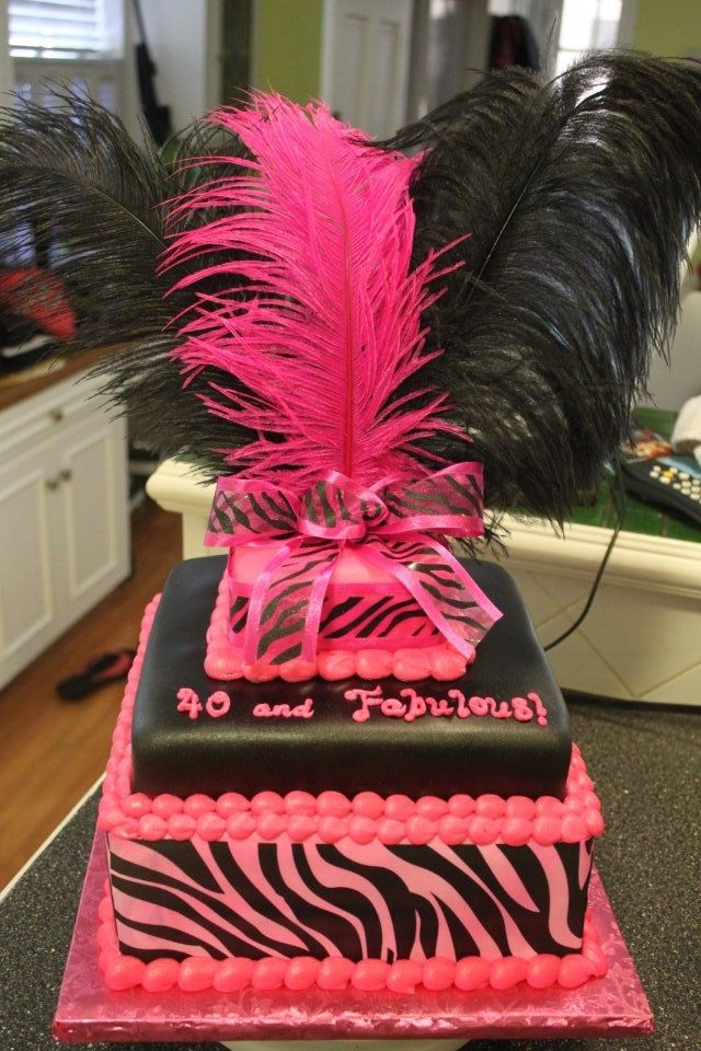 Elegant 40th Birthday Cakes 40th Birthday Cake cool cake ideas