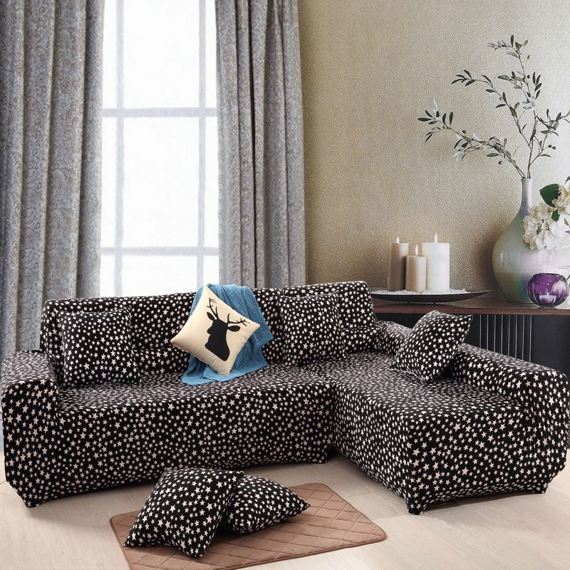 Sectional Couch Covers L Shaped Sofa Cover Elastic Universal Wrap The  Entire Sofa Slipcover For