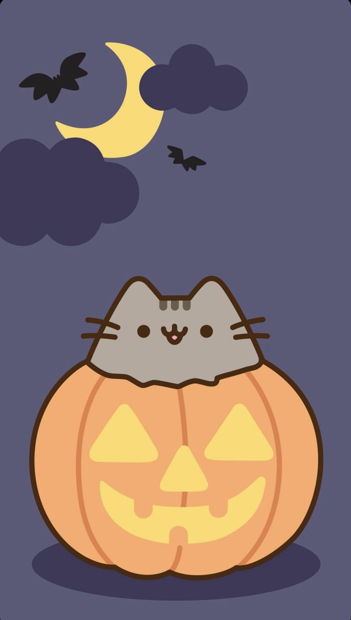 Pusheen Halloween Wallpaper Halloween Wallpaper Cute Pusheen Cute Halloween Wallpaper Iphone