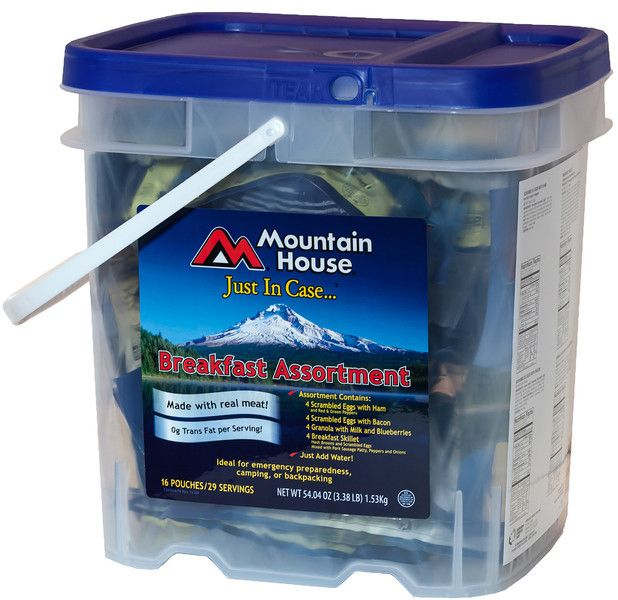 The Mountain House Bug Out Bucket A Must Have For Any Emergency Survival Mom Survival Mom Survival Food Survival Food Kits