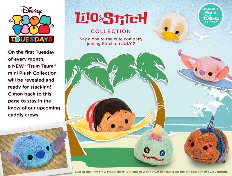 La Puntada De La Princesa Jasmine De Disney Tsum Tsum: Lilo And Stitch Disney Tsum Tsum Collection Released In