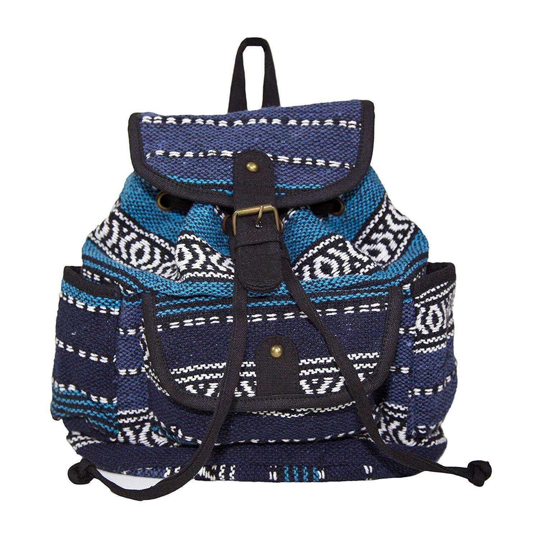 Carolina Sweethearts Aztec Woven Backpack Daypack Travel