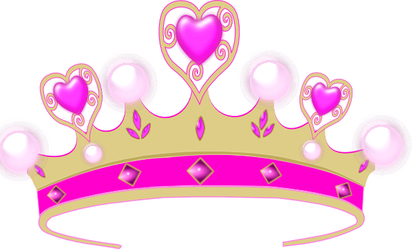 royalty free clipart illustration of a princess crown on a pink rh pinterest com pink flower crown clip art