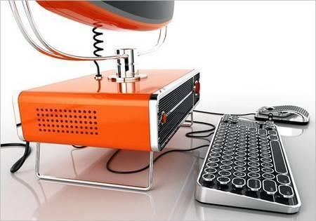 Philco retro computer and typewriter keyboard