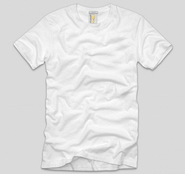 White Blank T Shirt Template Psd