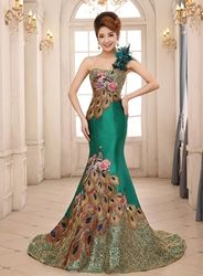Photo of Ericdress Embroidery Mermaid One Shoulder Evening Dress