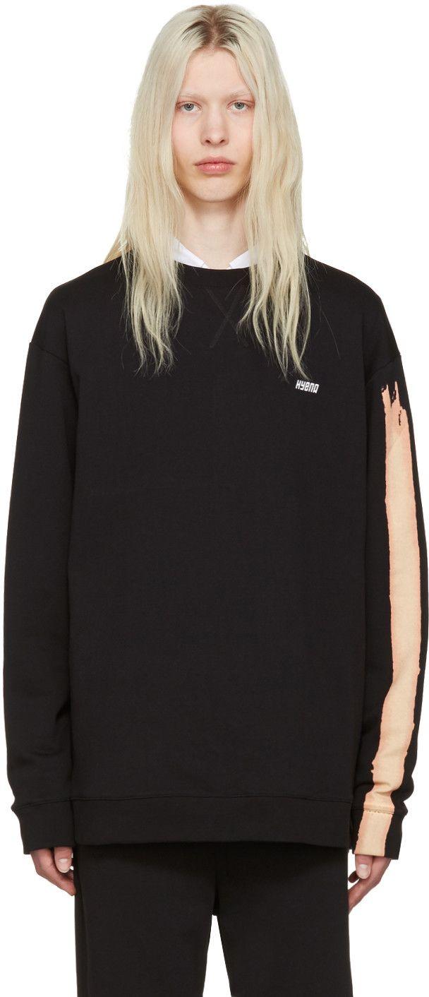 dedb93b636b8e6 Raf Simons: Black Oversized 'Hyena' Pullover | SSENSE | Fleece and ...