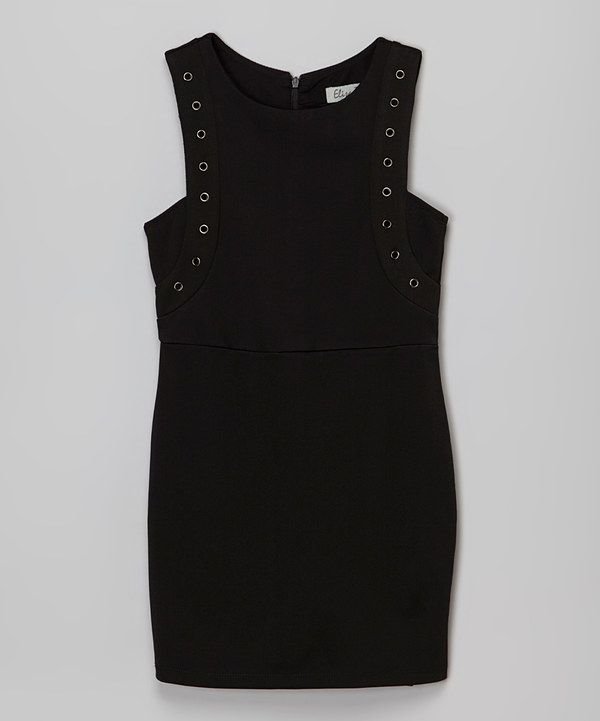 Look at this Elisa B. Black Class Act Dress - Girls on #zulily today!