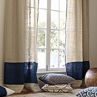 color block window panel u2013 navy serena u0026 lily pretty window treatments home