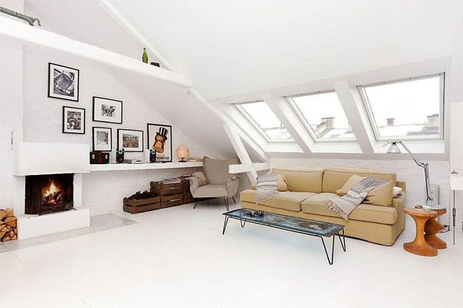 10x Open Boekenplanken : My scandinavian home: a wonderful white norwegian loft space
