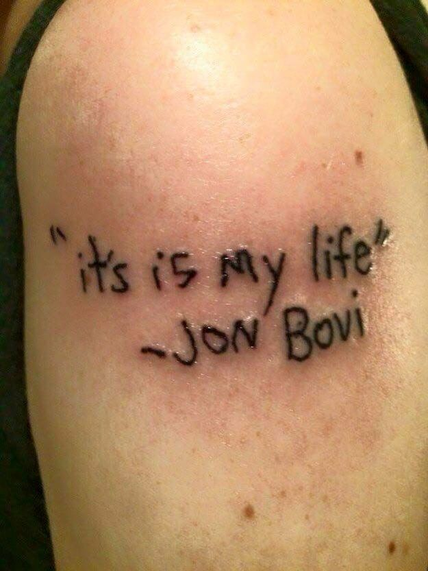 b46fec615 Go home inker, you're drunk! Tatoo Fail, Tattoo Regret, Bad