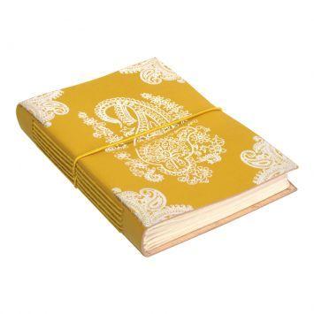Caderno Couro Paisley Grande