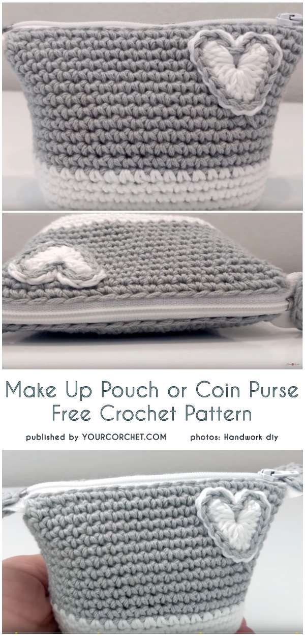 Crochet Make Up Pouch or Coin Purse - Free Pattern | Easy Project ...