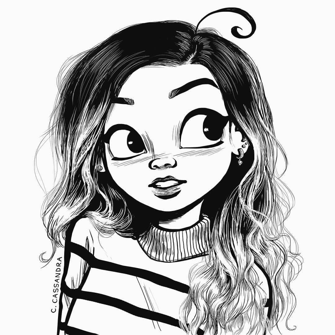 Cute Girl Pictures Drawings Cartoon Girl Drawing Cute Girl