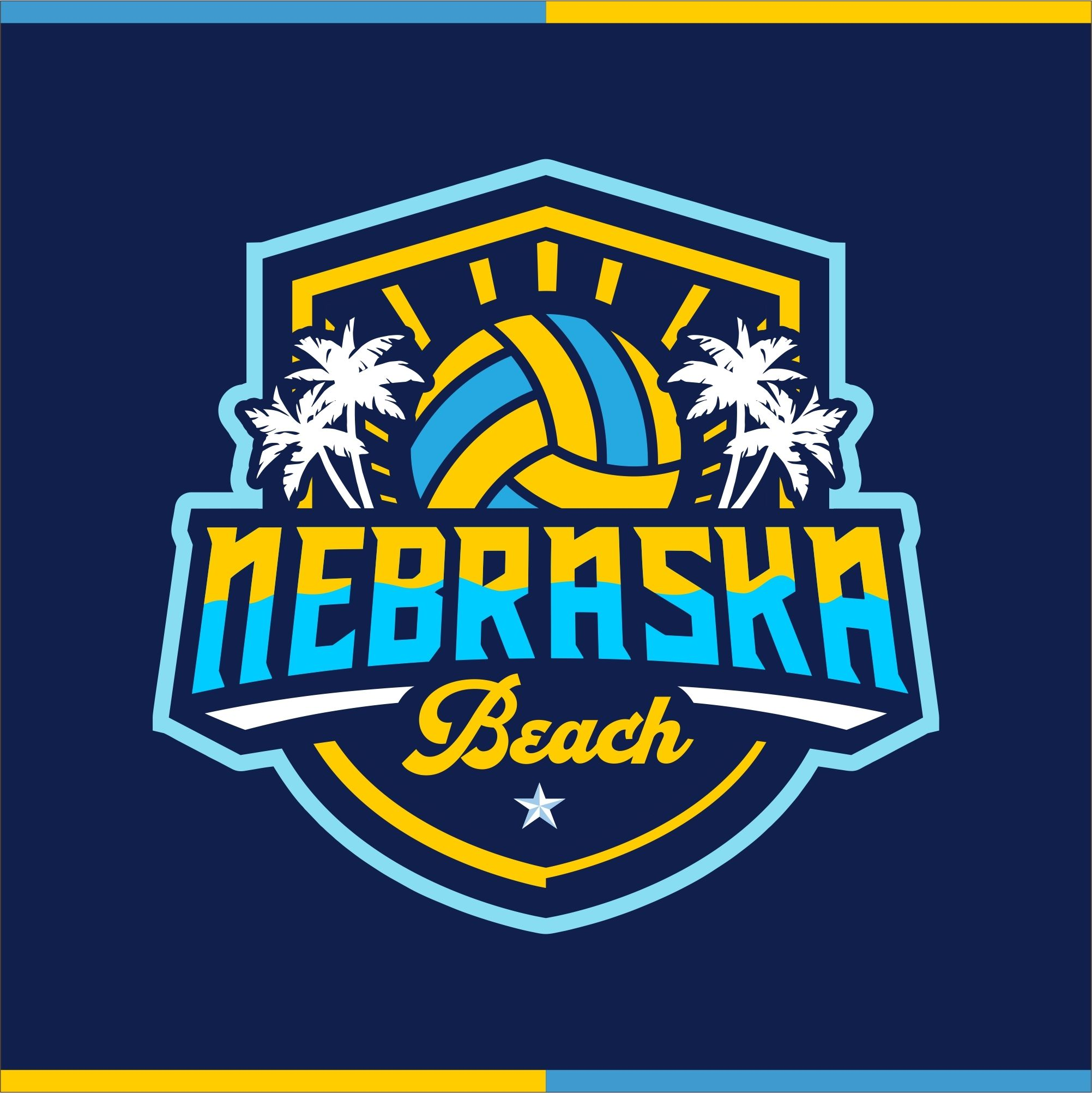 Design 35 By Barokah Studio Beach Volleyball Logo Beach Volleyball Logo Design Beach Volleyball Quote