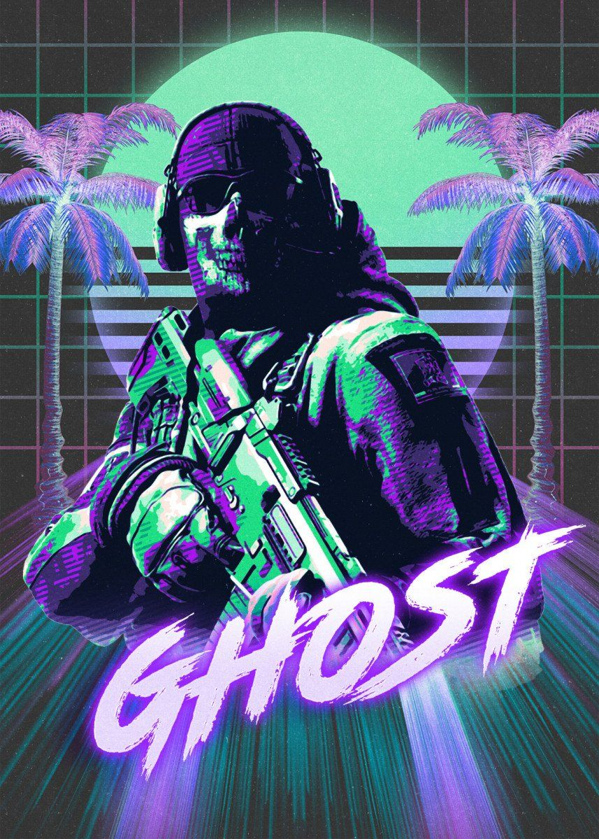 Call of duty ghosts metal poster print secondsell