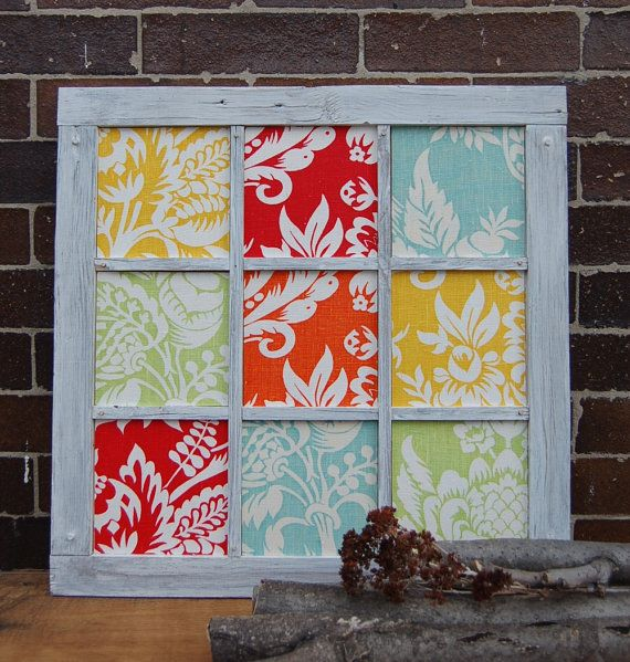 Handmade Country Art 19x19 Recycled Wood Frame Wall by 3byThree, $49.95