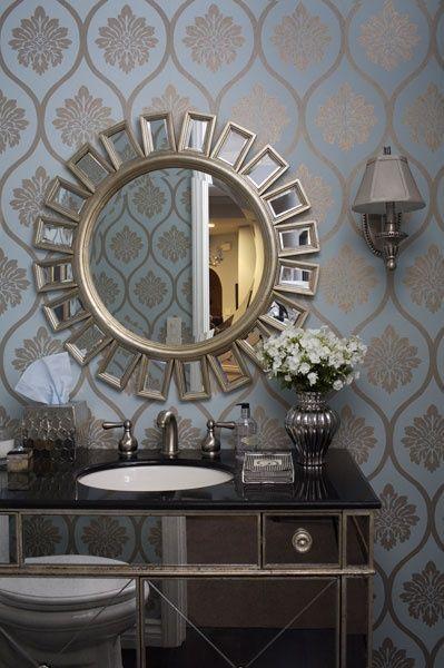 Luxurious Modern Bathrooms Elegant Hollywood Regency Home Decorating ...