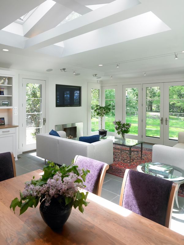 Great Room Additions Home Design Ideas Pictures Remodel And Decor: Skylights And Garden Views In New Family Room Addition (With Images)