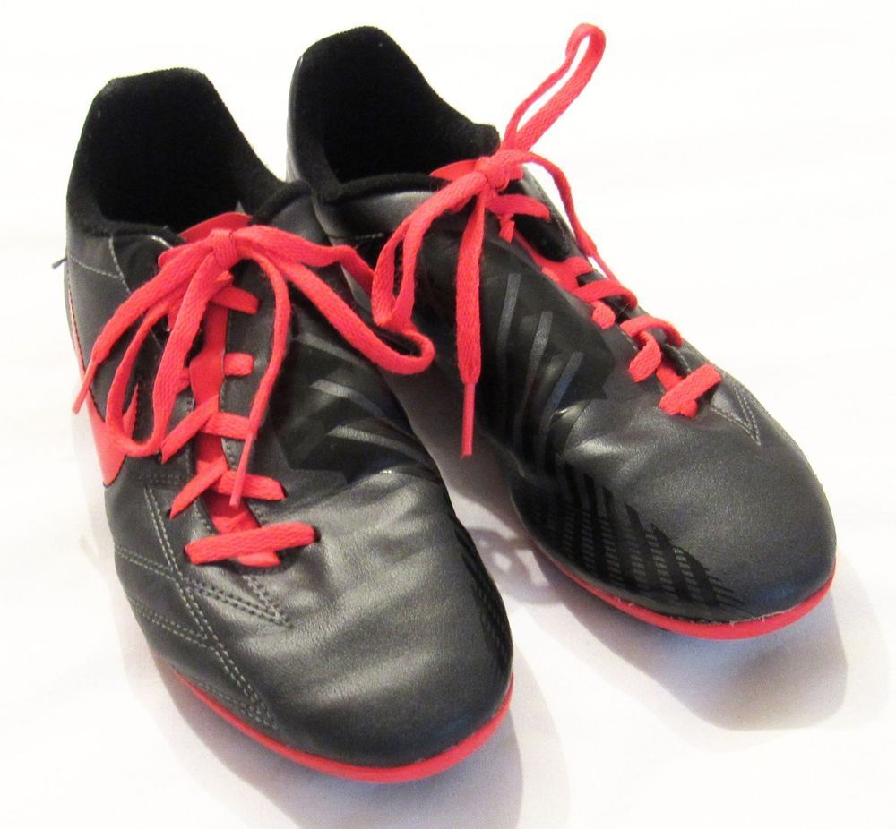 Nike T90 Exacto Kids Soccer Cleats Size Youth 5 Black Red 509015-088