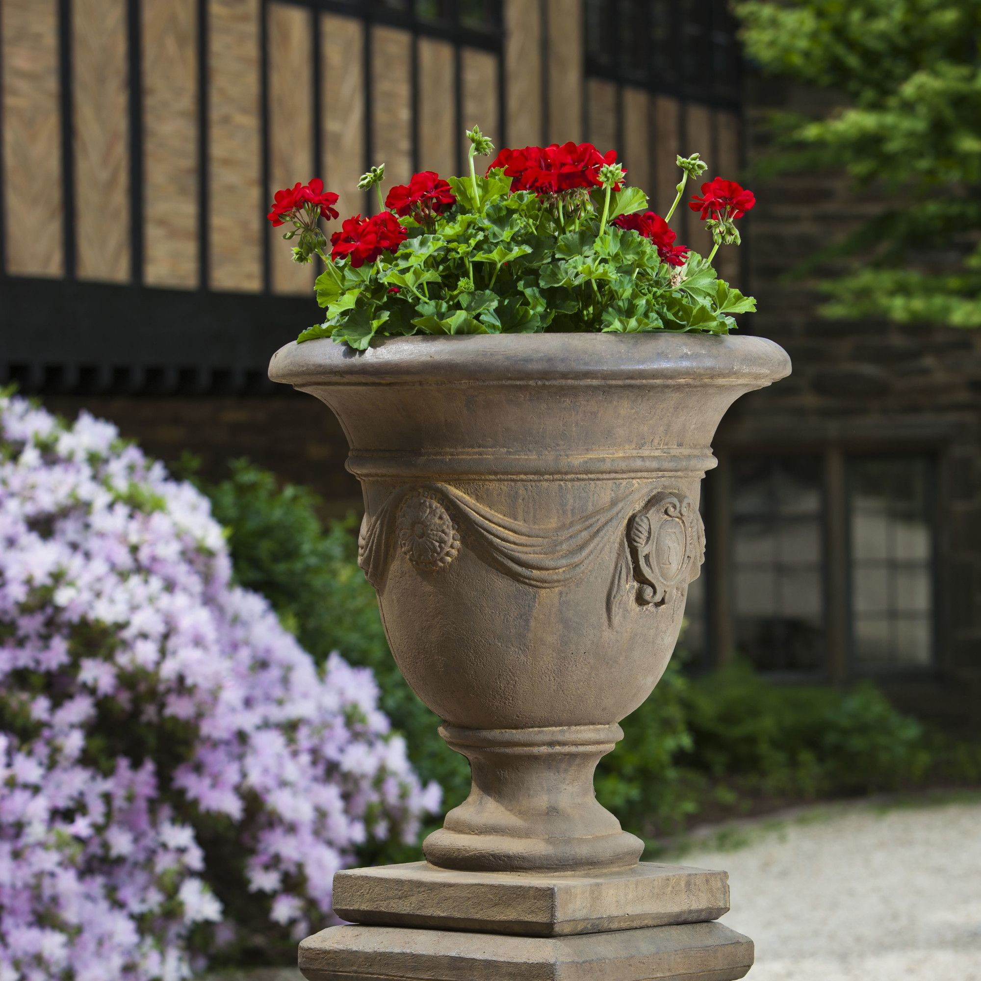 urns planter beacon planters pin stone and urn cast hill
