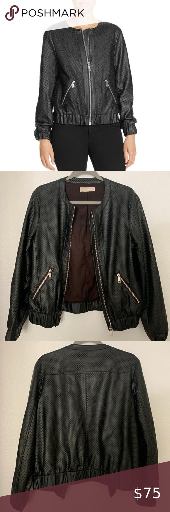 Michael Michael Kors Faux Leather Bomber Jacket Faux Leather Bomber Jacket Faux Leather Bomber Leather Bomber Jacket [ 1740 x 580 Pixel ]