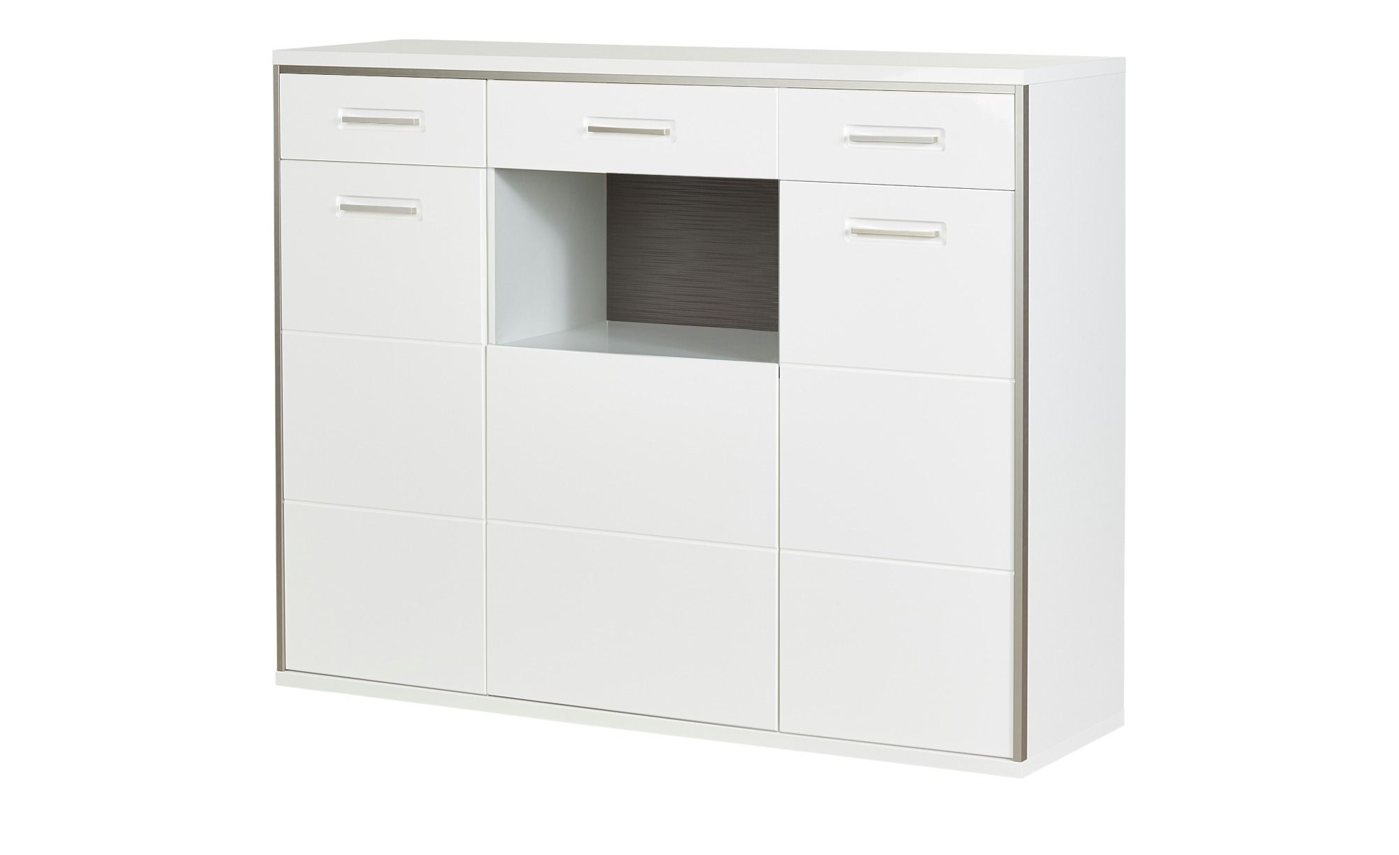 uno Highboard Setto ¦ weiß ¦ Maße (cm) B 154 H 121 T